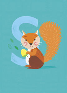 S is for Squirrel by Sugar Snap Studio