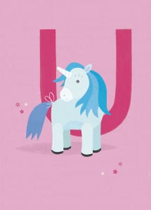 U is for Unicorn by Sugar Snap Studio