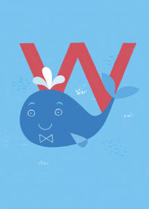 W is for Whale by Sugar Snap Studio