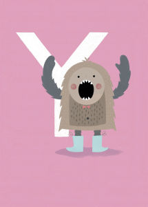 Y is for Yeti by Sugar Snap Studio