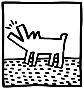 Untitled, (barking dogs) by Keith Haring
