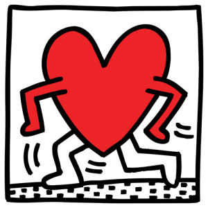Untitled (heart) by Keith Haring