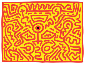 Growing 3, 1988 by Keith Haring