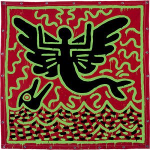 Untitled, 1982 (mermaid with dolphin) by Keith Haring