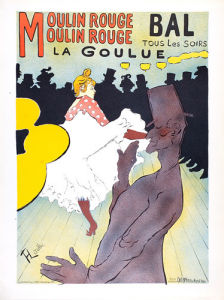La Goulue by Henri de Toulouse-Lautrec