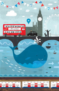 Whale in the Thames by Sugar Snap Studio