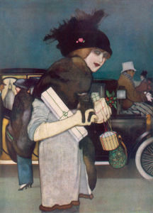 Christmas Shopping, 1913 by Anonymous