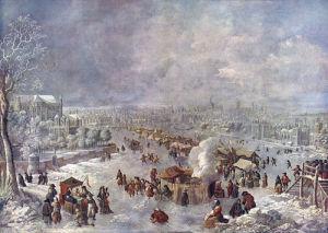 Thames Frost Fair by Jan Griffier the Elder