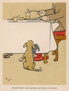 Table Manners, 1914 by Cecil Aldin