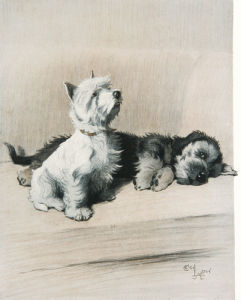 The Two Friends, c.1930 by Cecil Aldin