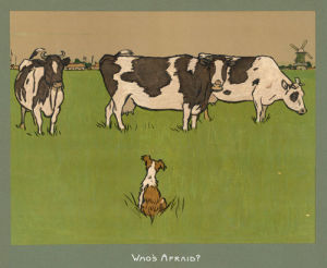 Who's Afraid? (early 1900's) by Cecil Aldin