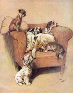A House Full, 1933 by Cecil Aldin
