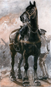 British Artillery Horse by Philip Dadd