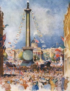 Trafalgar Square, July 1919 by William Monk
