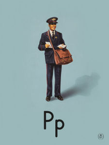 P is for postman by Ladybird Books