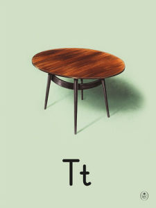 T is for table by Ladybird Books