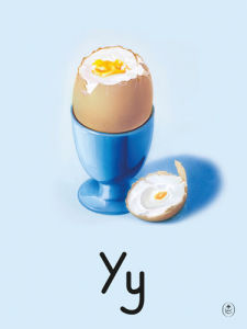 Y is for yolk by Ladybird Books