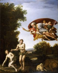The Expulsion of Adam and Eve by Domenichino