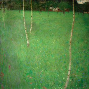 Farmhouse with Birch Trees, 1900 by Gustav Klimt