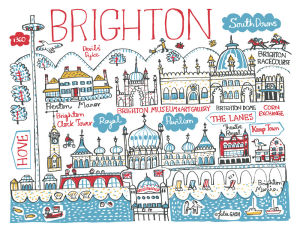 Brighton Cityscape by Julia Gash