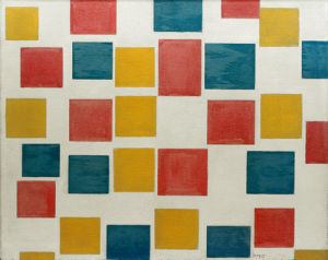 Composition with Coloured Areas, 1917 by Piet Mondrian