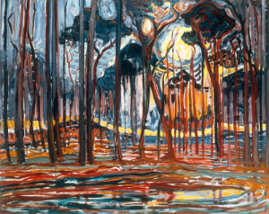 Woods near Oele, 1908 by Piet Mondrian