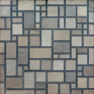 Composition with Lattice Work 7, 1919 by Piet Mondrian