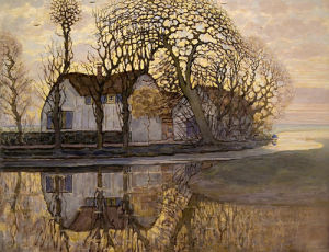 Farm near Duivendrecht, 1916 by Piet Mondrian