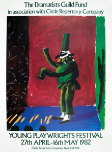Detail from Pulcinella with Applause, 1982 by David Hockney