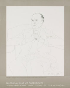 Sir John Gielgud, 1979 by David Hockney