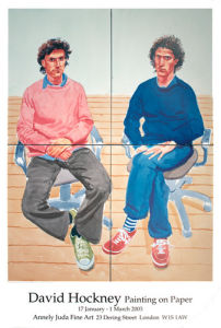 Tom and Charles Guard, 2003 by David Hockney