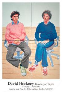 Tom and Charles Guard, 2003 by David Hockney
