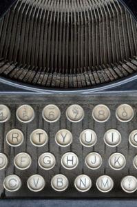 Typewriter Keys by Deborah Schenck