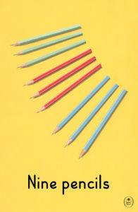 Nine pencils by Ladybird Books'