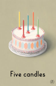 Five candles by Ladybird Books