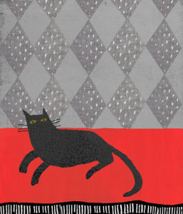 Black Cat and Diamonds by Madeleine McClellan