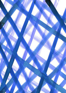 Criss Cross Blue by Amy Sia