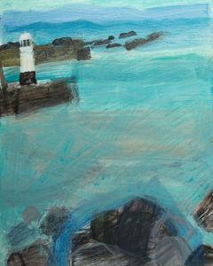 Sea Swirls around Rocks by Emma Jeffryes