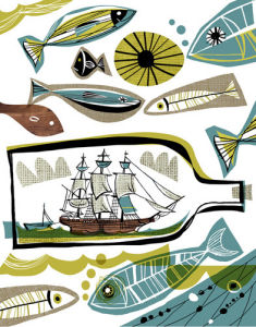Ship in a Bottle 1 by Gillian Martin