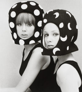 Two capsule line felt helmets by John French