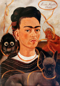 Self-Portrait with Small Monkey, 1945 by Frida Kahlo