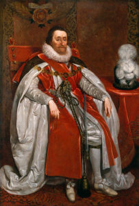 King James I of England and VI of Scotland by Daniel Mytens