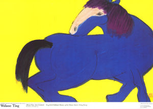 Blue Horse by Walasse Ting