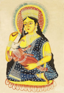Parvati and Ganesha, c.1830 by Unknown artist