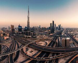 Dubai Skyline Panorama by Jean Claude Castor