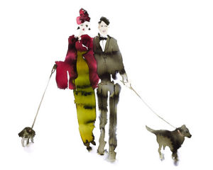 What to Wear When Walking the Dogs - Eva & Gerald by Bridget Davies