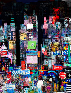 Night in Times Square by Andy Mercer