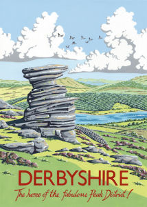 Salt Cellar Rock, Derwent Edge, Derbyshire by Kelly Hall