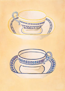 Tea-cups I by Nigel Cladingboel