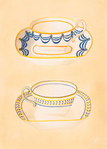 Tea-cups III by Nigel Cladingboel